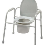 3-1 COMMODE - All-in-one commode reduces the number of items carried.